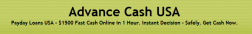 Advance Cash USA logo