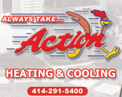 Amana.....Action Htg. & Cooling logo