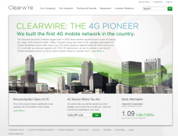 Clearwire Internet Provider Service logo