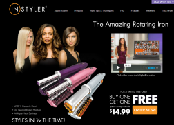 INstyler hair 3 in 1 styling tool logo
