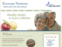economy dentures on 800 dunn ave jax fl logo