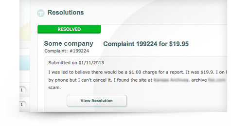 Complaint Resolved